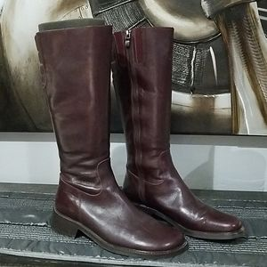 DONALD J PLINER BROWN HIGH BOOTS